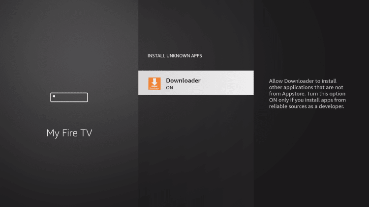 This will turn Unknown Sources on to jailbreak firestick