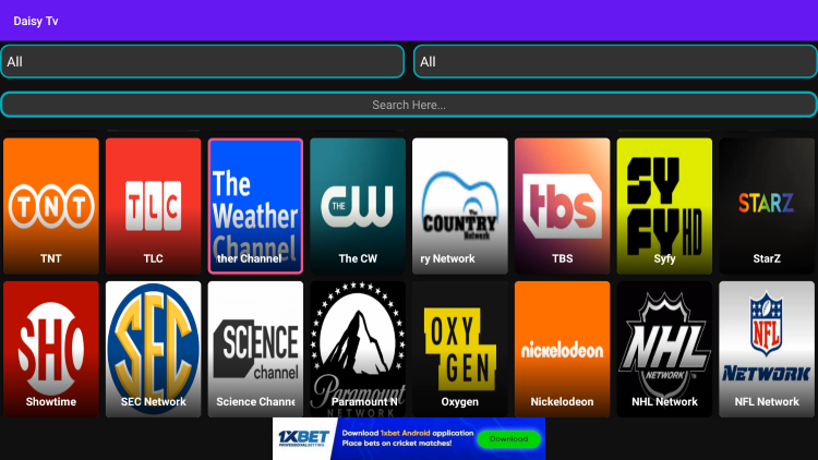 One of the best features of ThopTV is the ability to integrate external video players.