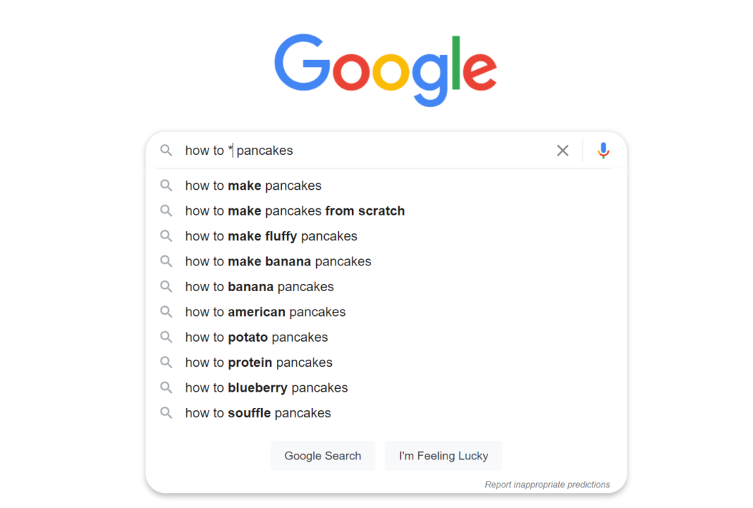 how to make pancakes google search suggestions