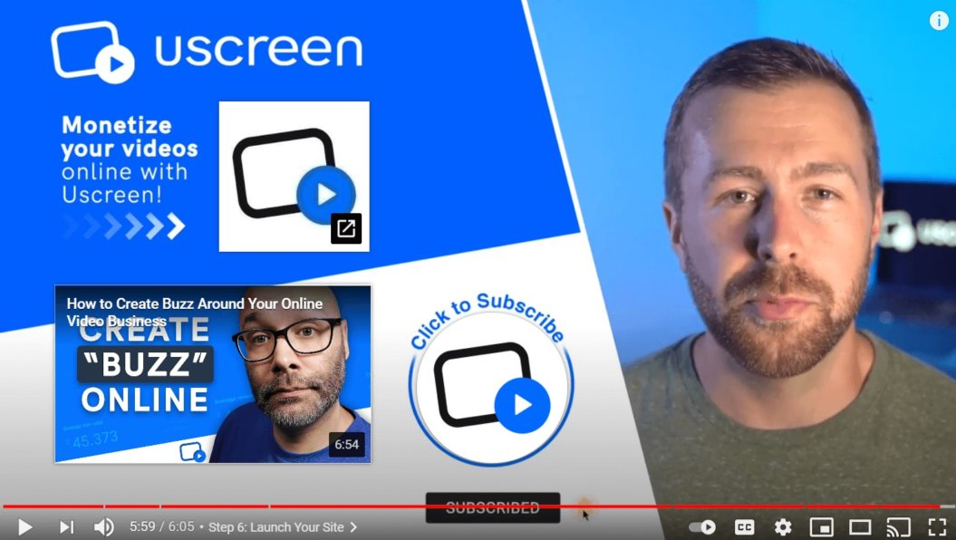 endscreen example uscreen youtube channel