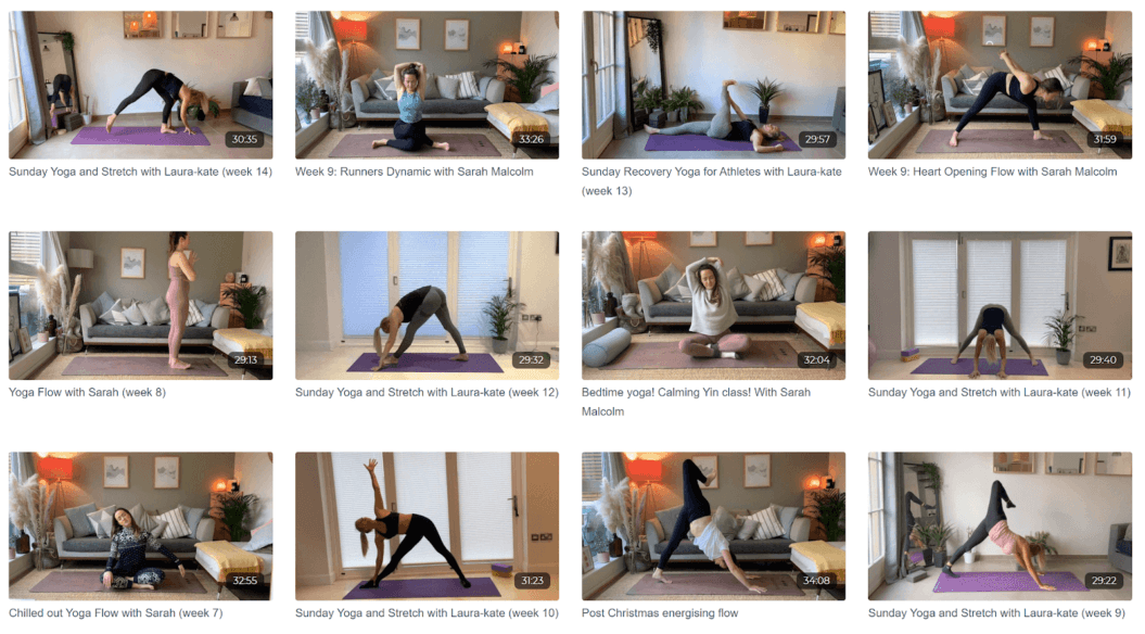 live stream fitness classes saved content library uscreen