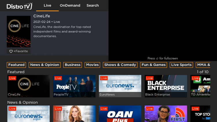 That's it! You have successfully installed DistroTV on your Roku device.