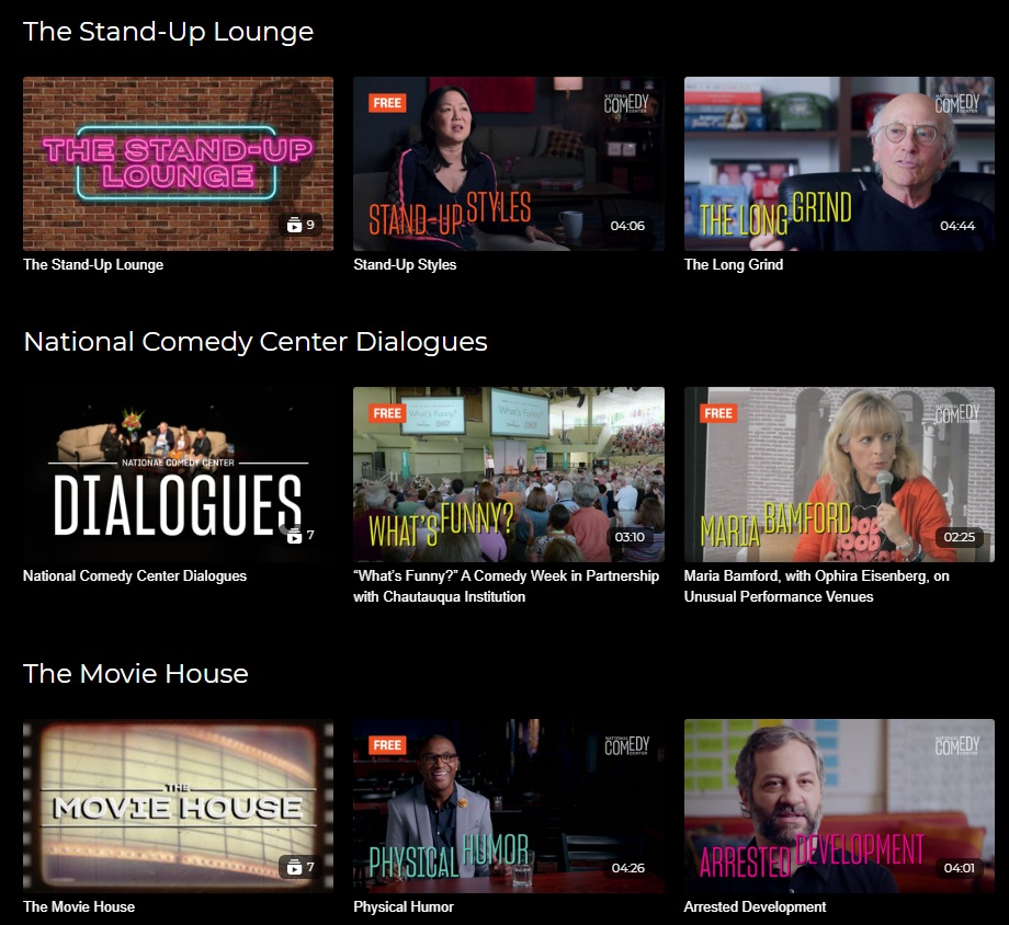comedy virtual event examples