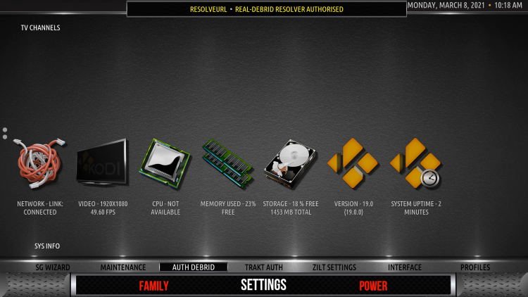 That's it! You have integrated Real-Debrid within the Zilt Kodi Build.