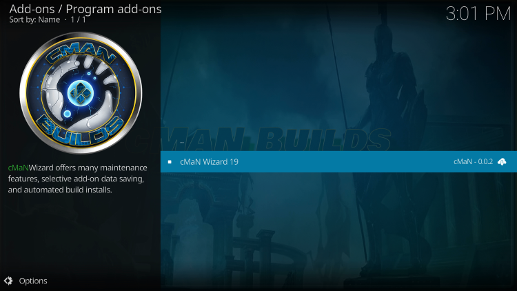 Type the following URL exactly as shown here for installing alienware kodi build