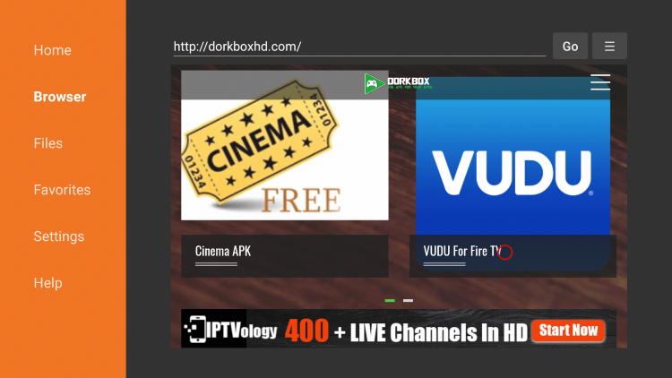 """Hover over and click on """"VUDU for Fire TV."""""""