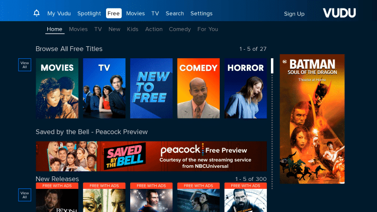 You have successfully installed Vudu on your Roku device. Enjoy!