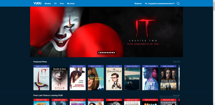 That's it! You have now officially signed up for a Vudu account