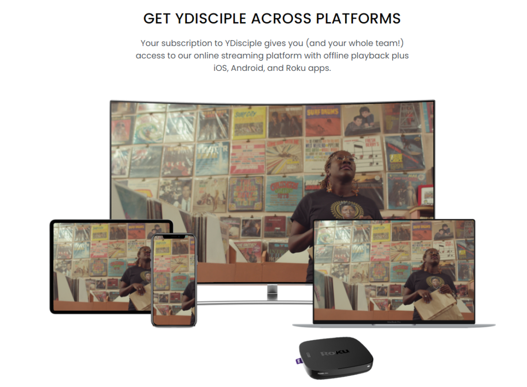 Ydisciple homepage services on multiple devices