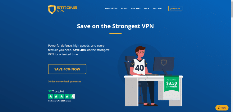 Visit the StrongVPN website and click VPN Apps in the main menu.