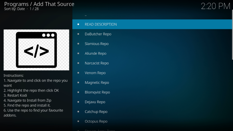 You have installed the Add That Source Kodi Addon on your device.