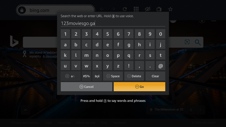 Enter in the following 123movies URL