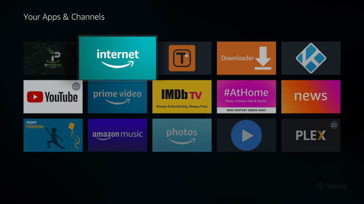 Move the Silk Browser wherever you prefer and click the OK button on your remote to place it.