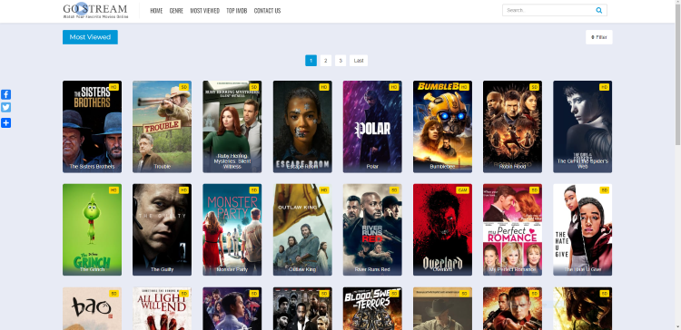 Using GoStream site on a PC, tablet, or mobile device may be the simplest method of using the site for movies & TV shows.