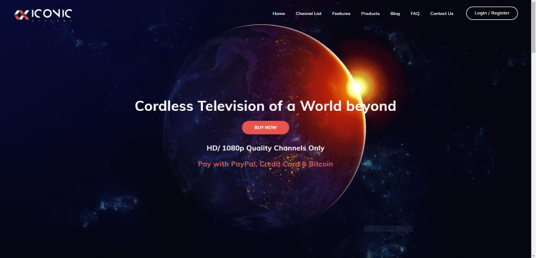 The Iconic Streams IPTV service hosts over 3,500 channels and VOD options in HD quality.