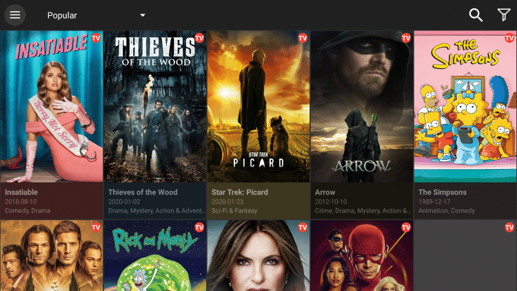 Another added feature Cinema APK provides is the ability to download Movies and TV Shows within the application.