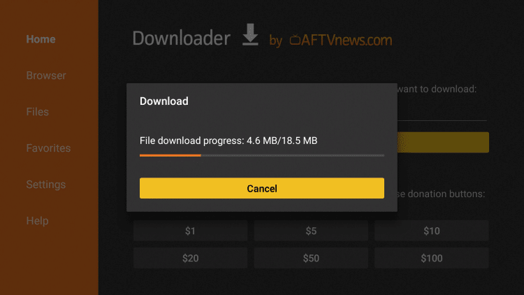 Wait for download to finish