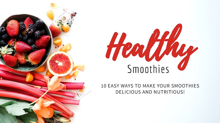 Healthy smoothie thumbnail example