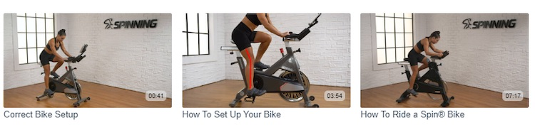 Fitness video titles and thumbnails