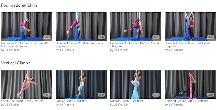 Aerial Physique TV video categories