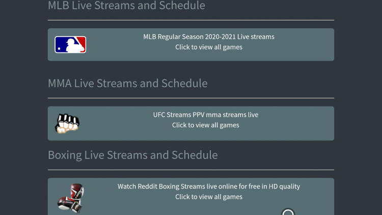 Enjoy the various streams that CrackStreams has to offer!