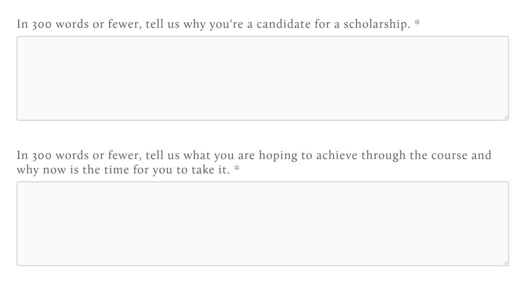Coupon scholarship Peter Crone example