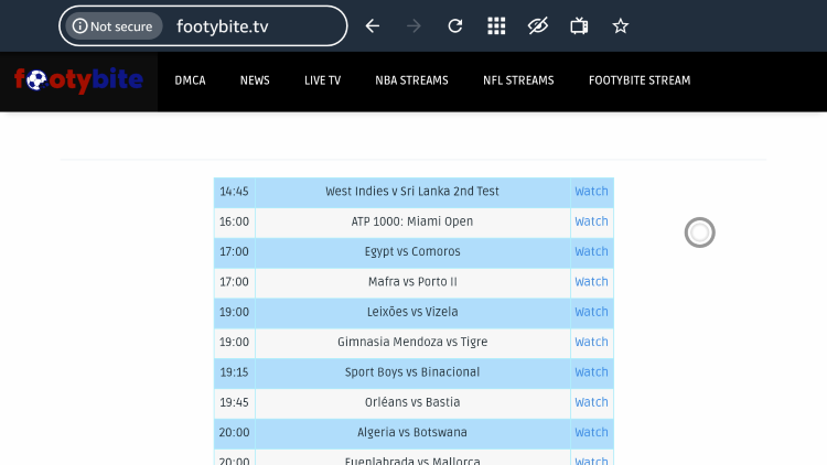 footybite free sports streaming sites