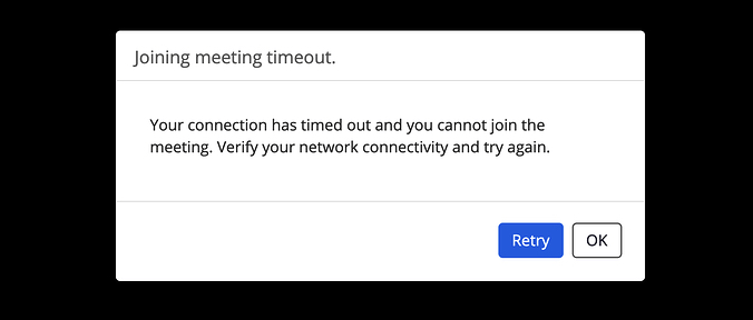 Zoom conference unstable connection notification