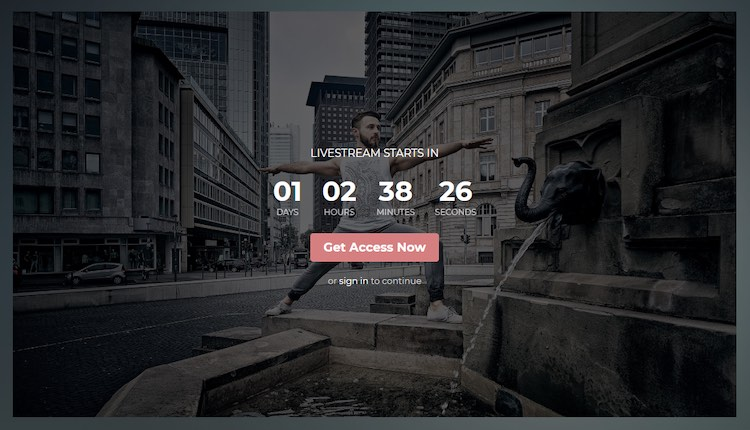 NulledMedia video website live streaming countdown