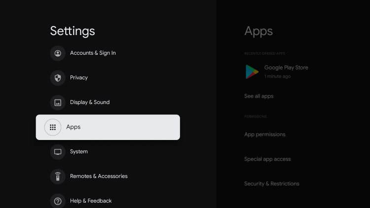 Click Android TV OS build approximately 7 times until you see a message that Developer Options have been enabled