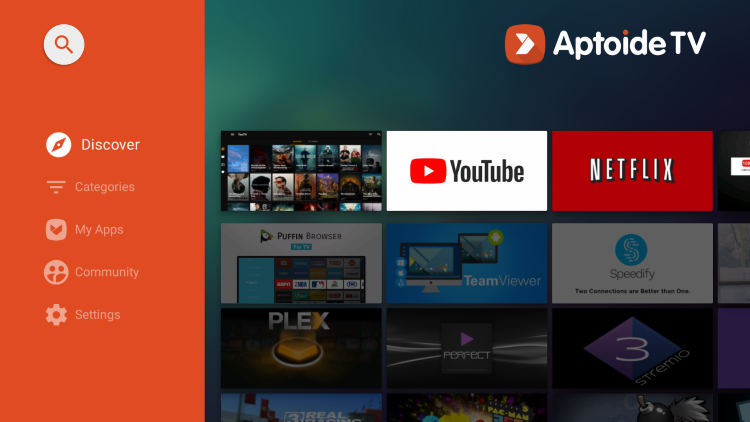 That's it! You have successfully installed the alternative app store Aptoide TV on your jailbroken Chromecast with Google TV.