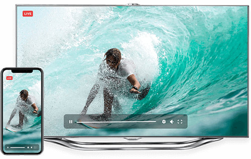 Live streaming platform on tv and mobile devices